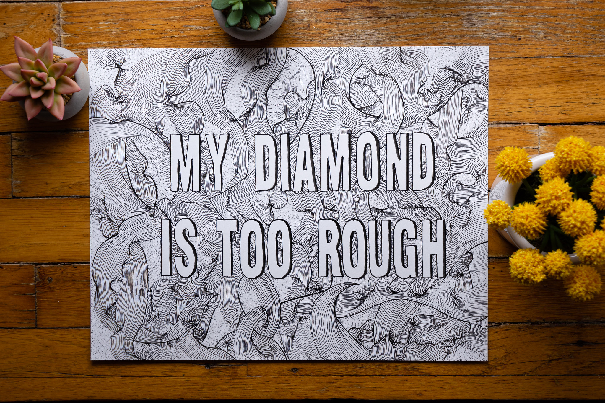 hand drawn letters from a ryan bingham song