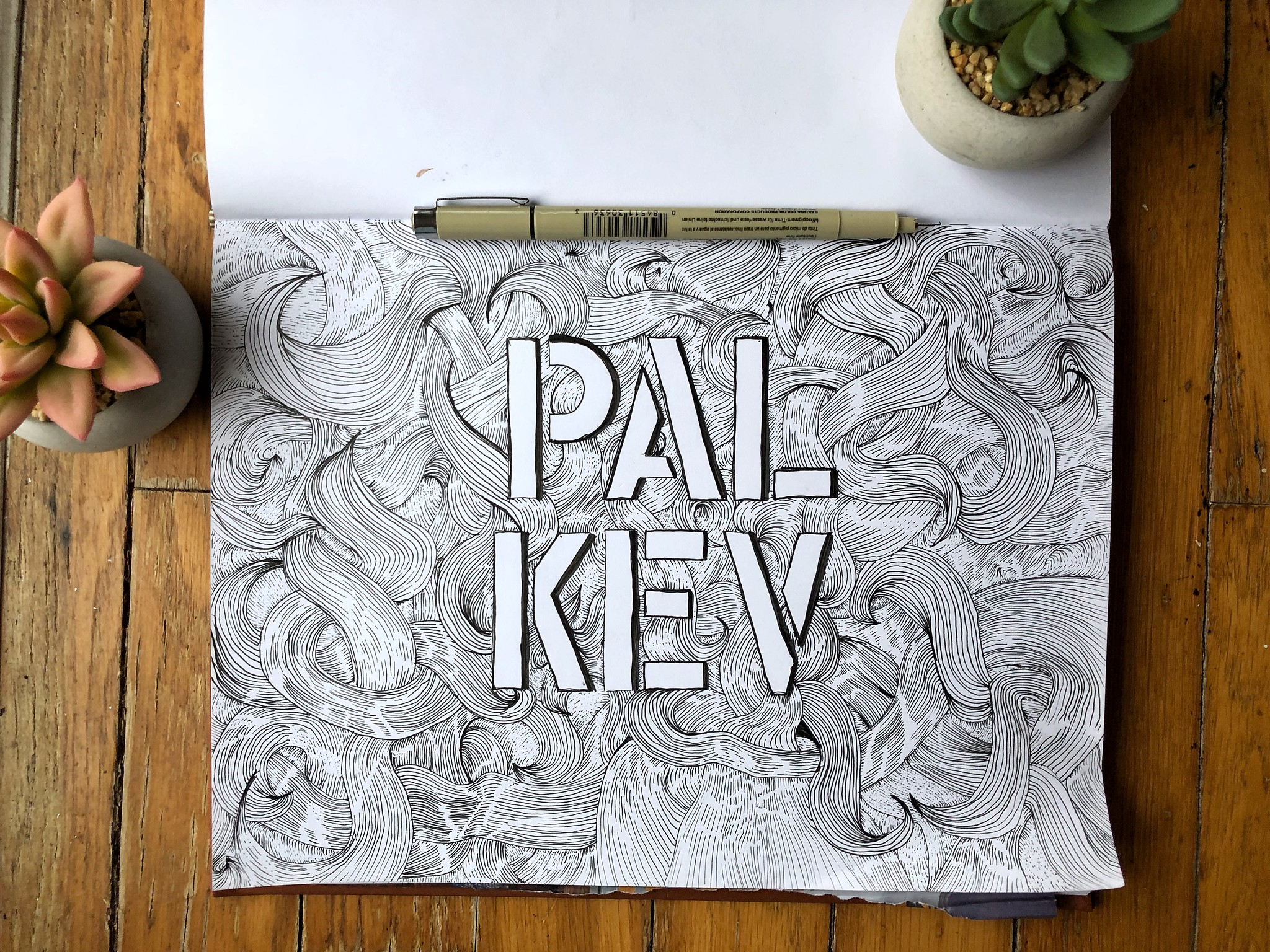 Pal Kev hand done letters