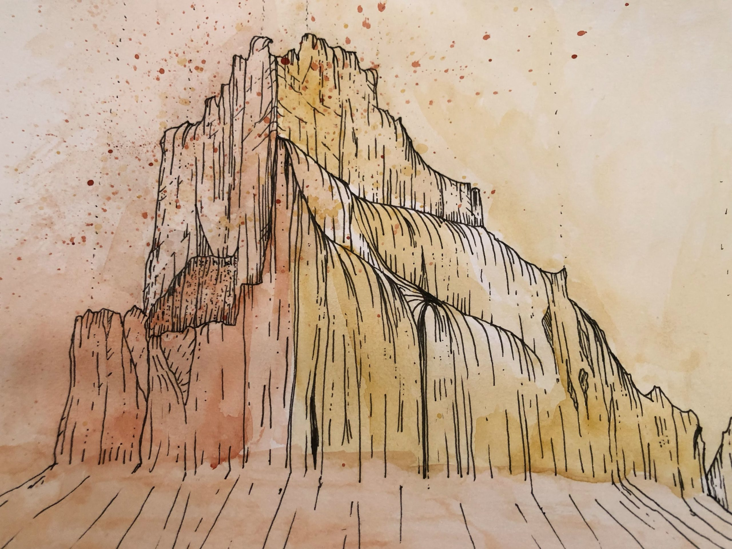 painted shiprock