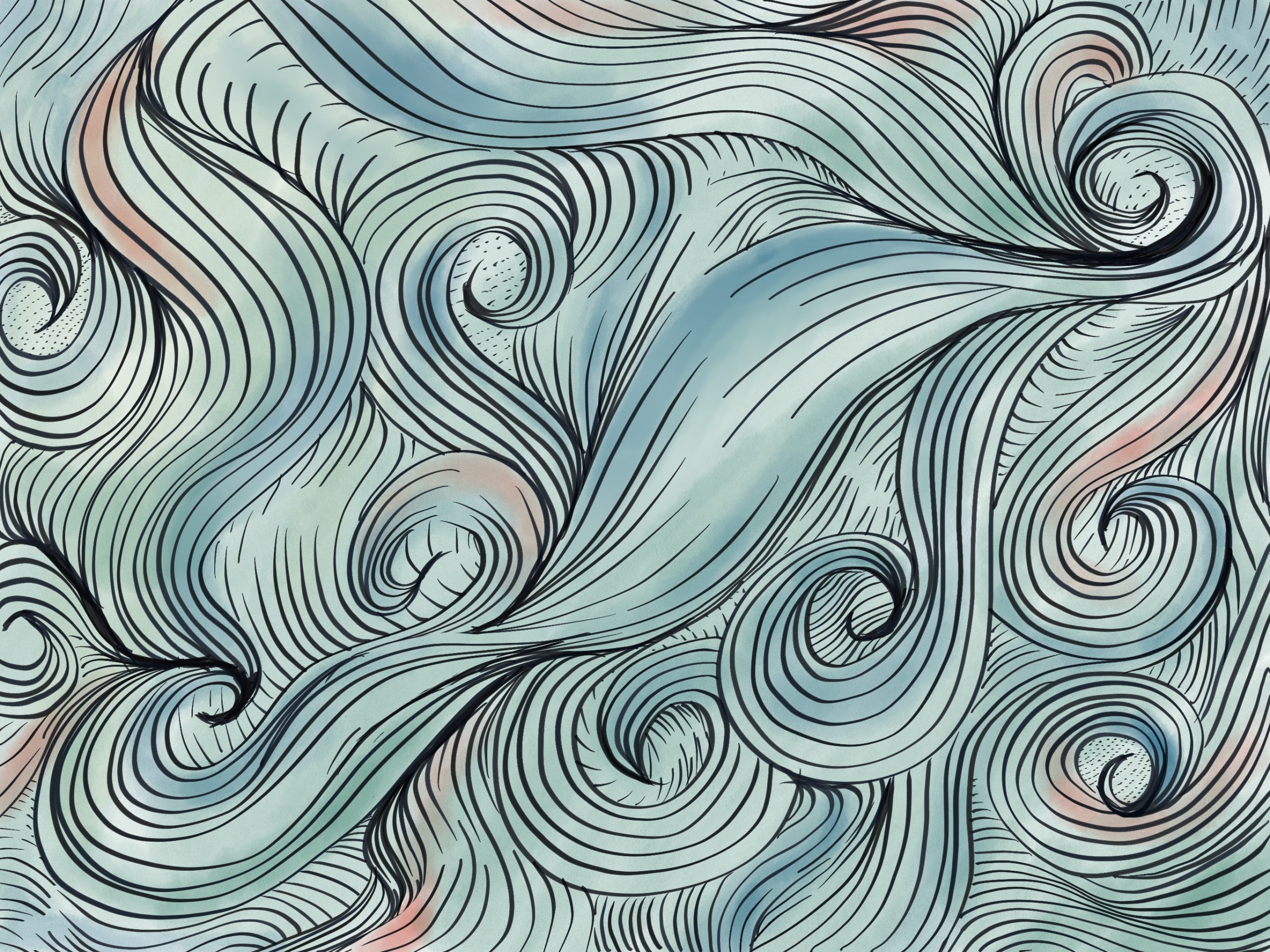 swirls of color and lines