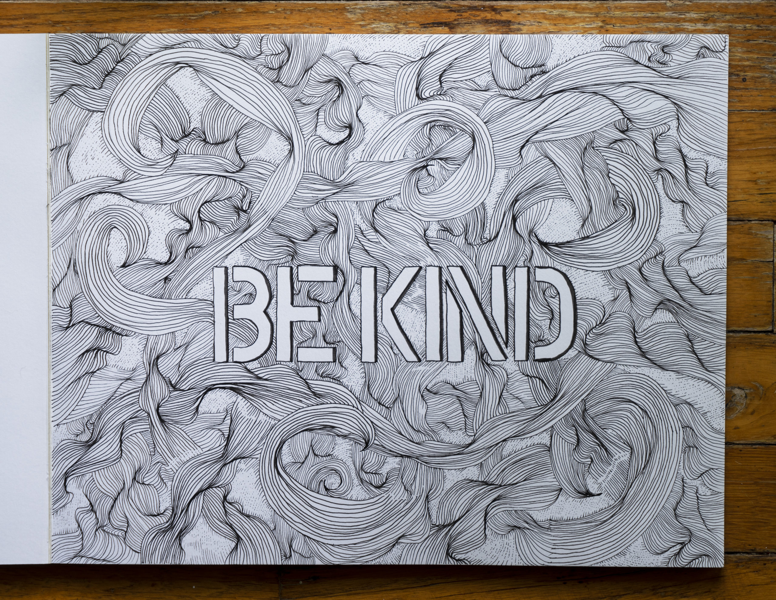 hand drawn letters be kind