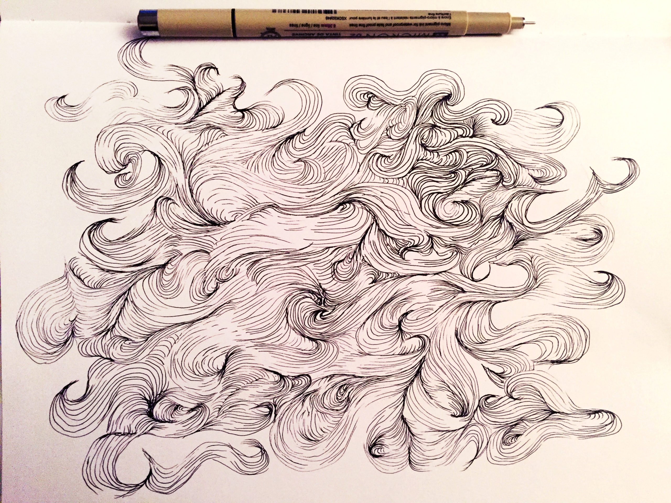 lines in the shape of wind